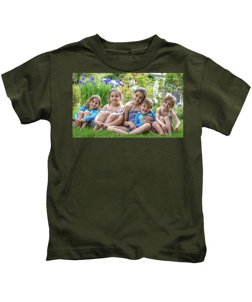 The Grand Kids In The Garden Kids T-Shirt