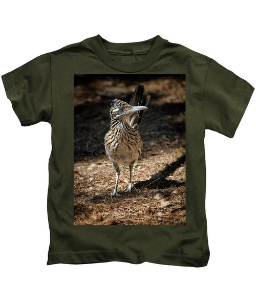 The Greater Roadrunner Walk  Kids T-Shirt by Saija Lehtonen