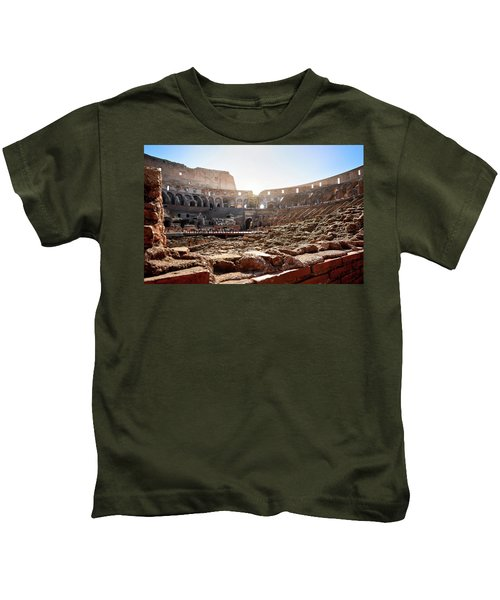 The Interior Of The Roman Coliseum Kids T-Shirt