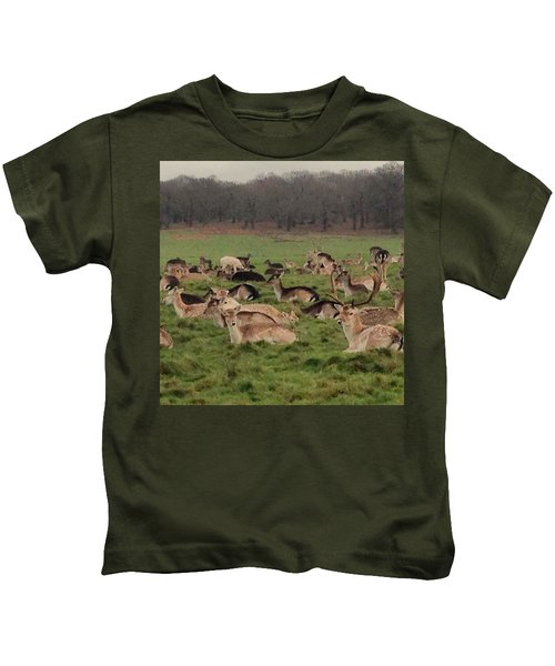 The Land Of Deers Kids T-Shirt