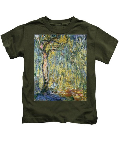 The Large Willow At Giverny Kids T-Shirt