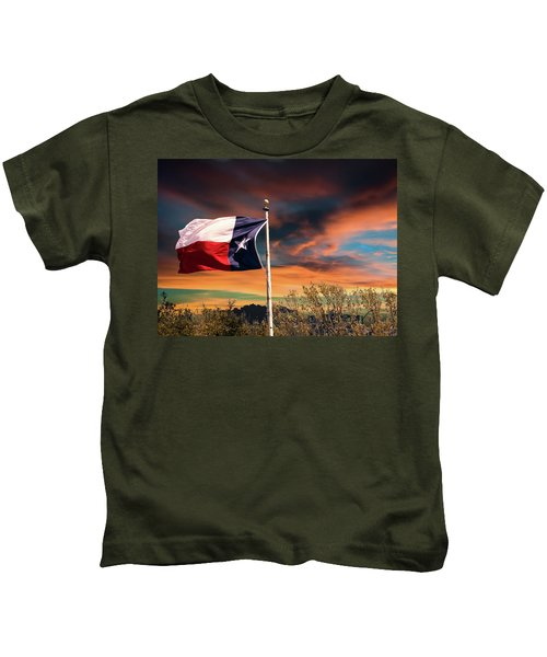 The Lone Star Flag Kids T-Shirt