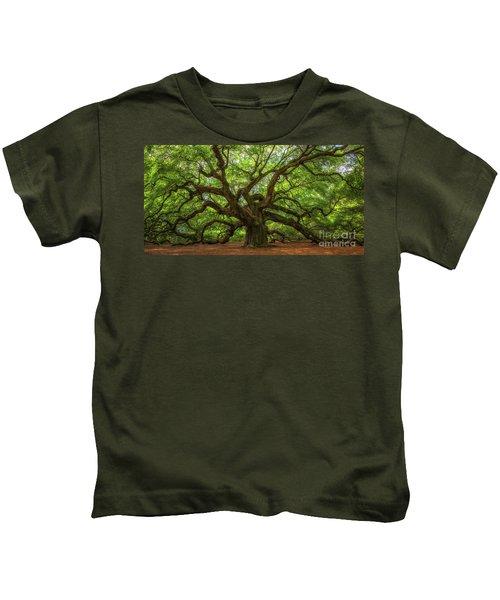 The Magical Angel Oak Tree Panorama  Kids T-Shirt