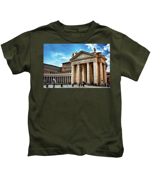 The Majesty Of The Tuscan Colonnades Kids T-Shirt