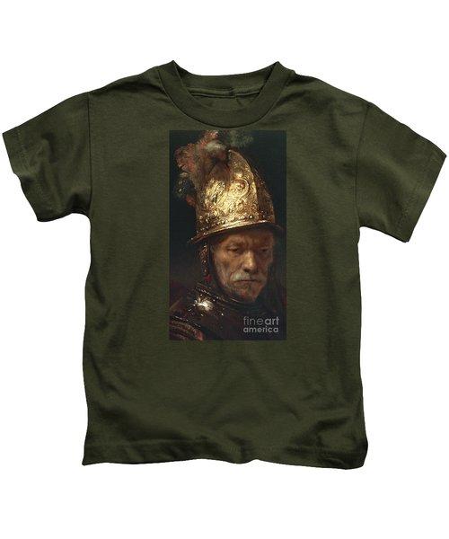 The Man With The Golden Helmet Kids T-Shirt