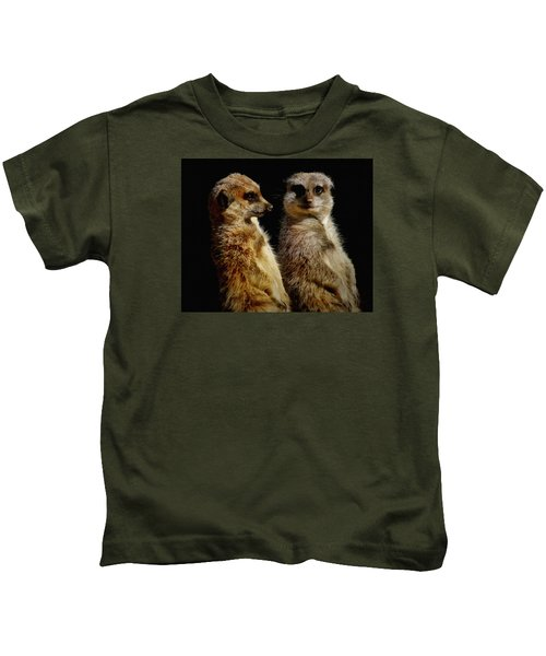 The Meerkats Kids T-Shirt by Ernie Echols