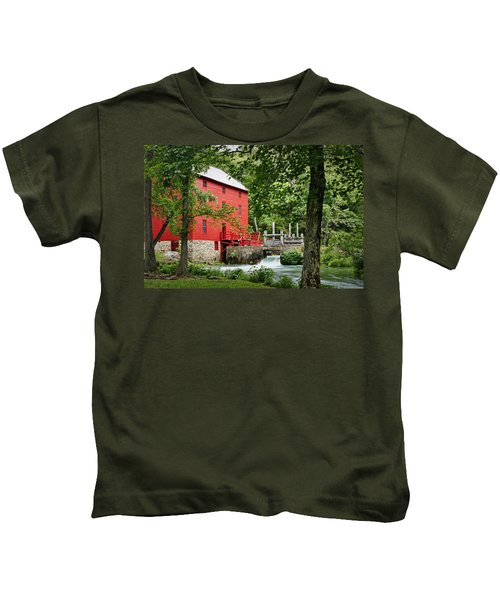 The Mill At Alley Spring Kids T-Shirt