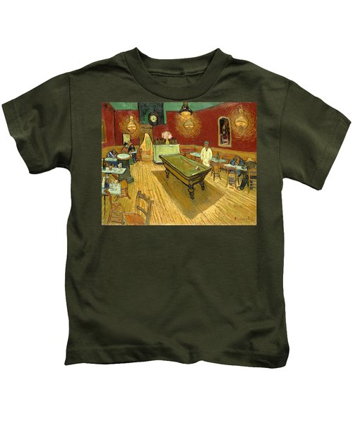 The Night Cafe Auto Contrasted Kids T-Shirt