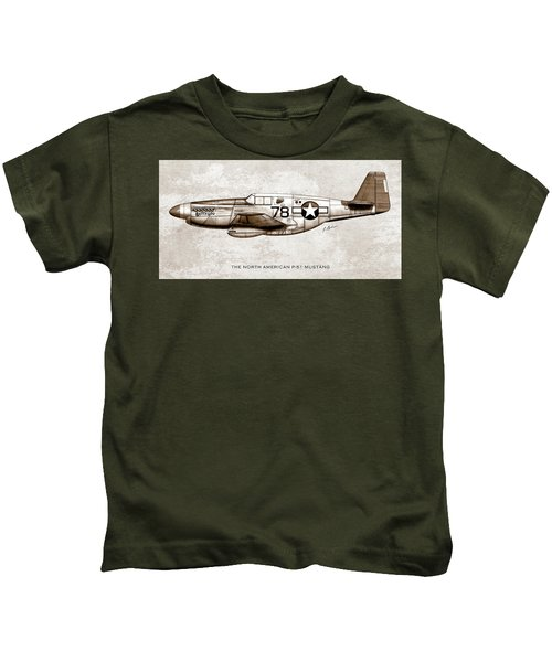 The North American P-51 Mustang Kids T-Shirt