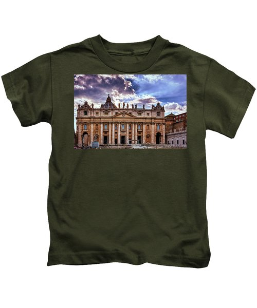 The Papal Basilica Of Saint Peter Kids T-Shirt