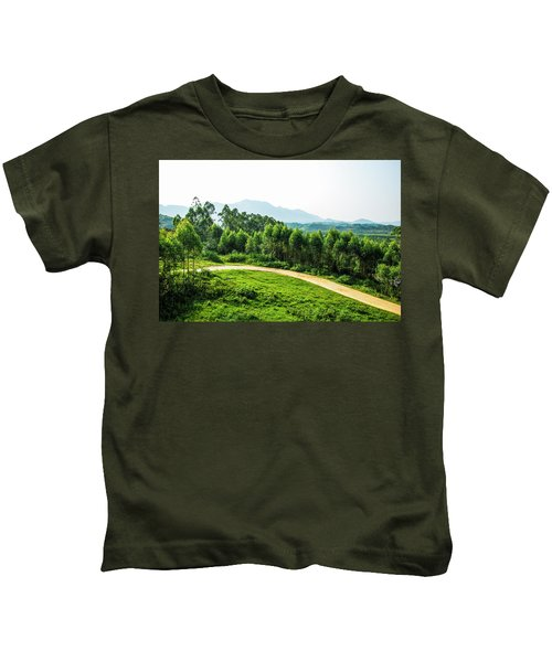 The Path In The Mountain Kids T-Shirt
