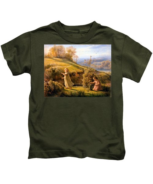 The Poem Of The Soul Spring Anne Francois Louis Janmot 1854. Kids T-Shirt