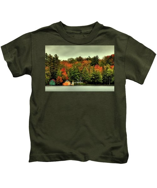 The Pond In Old Forge Kids T-Shirt