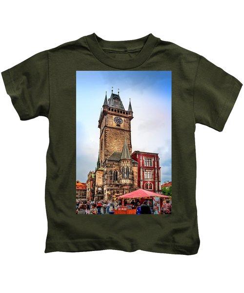 The Prague Clock Tower Kids T-Shirt