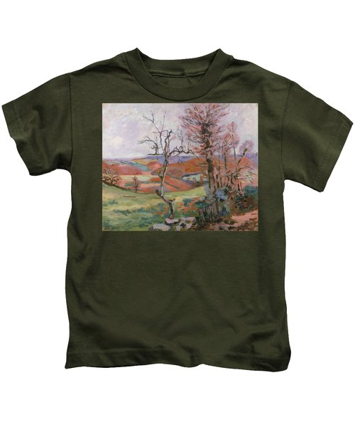 The Puy Barion At Crozant Kids T-Shirt
