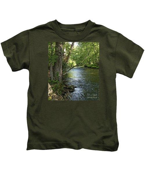 The Quiet Waters Flow Kids T-Shirt