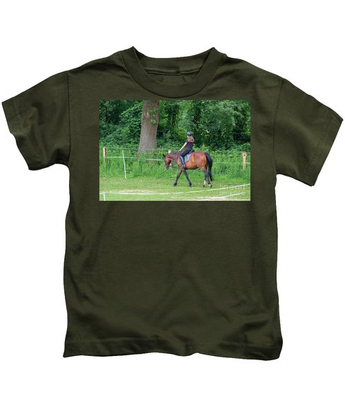 The Riding School In Suburb Kids T-Shirt