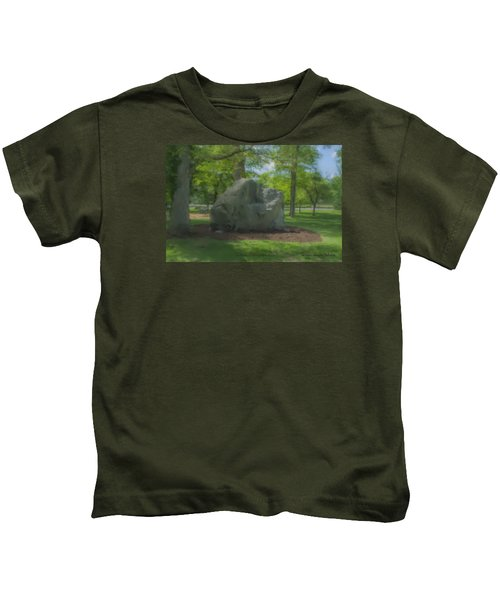 The Rock At Frothingham Park, Easton, Ma Kids T-Shirt