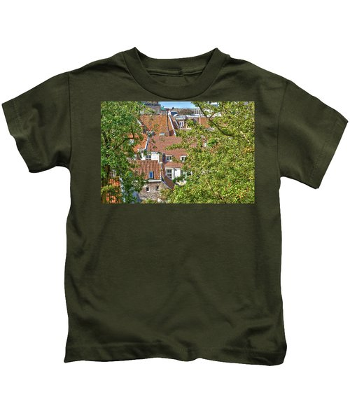 The Rooftops Of Leiden Kids T-Shirt