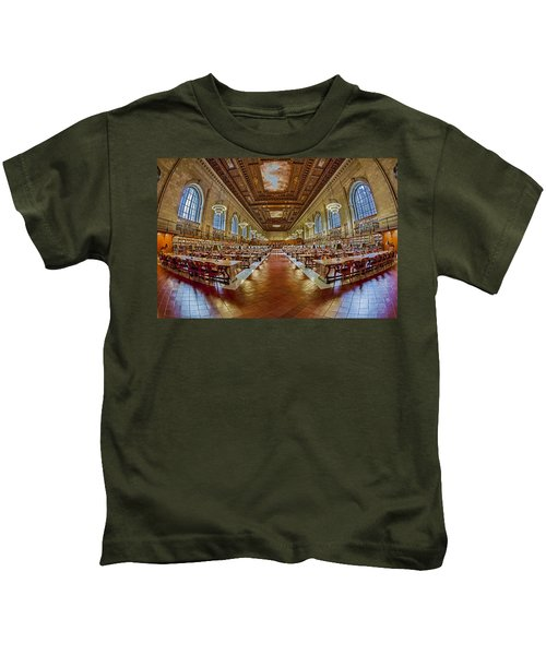 The Rose Main Reading Room Nypl Kids T-Shirt