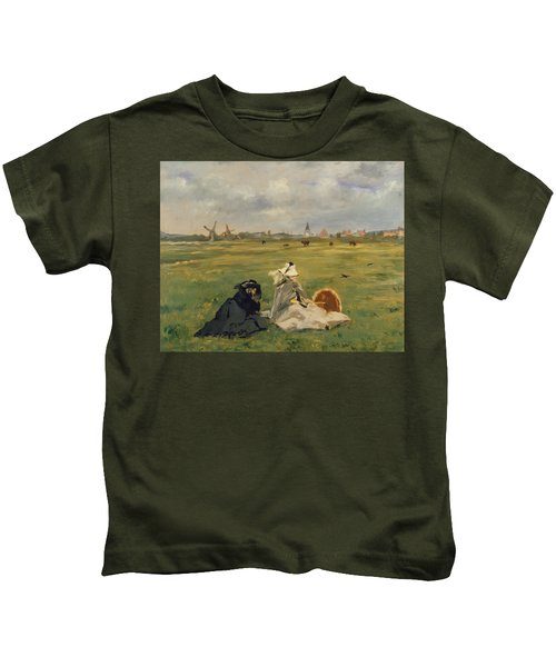 The Swallows Kids T-Shirt by Edouard Manet
