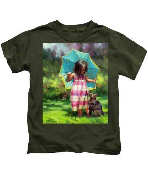 The Teal Umbrella Kids T-Shirt