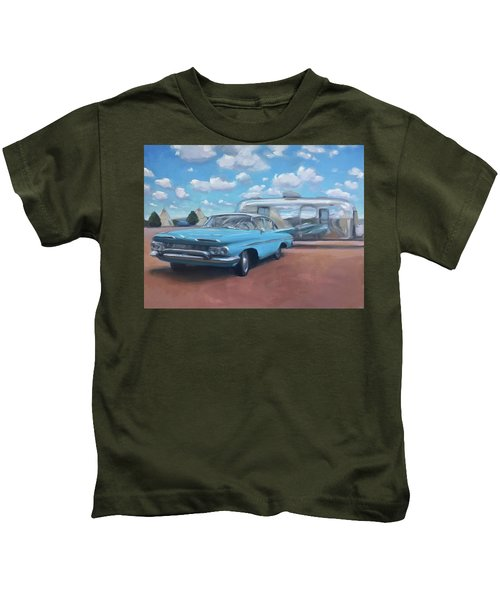 The Teepee Motel, Route 66 Kids T-Shirt