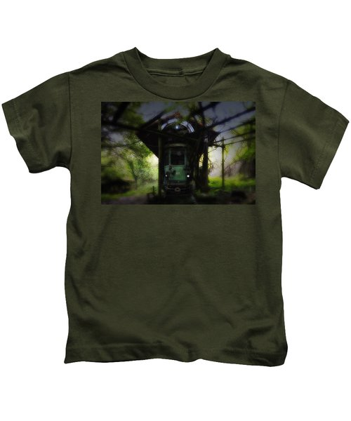 The Tram Leaves The Station... Kids T-Shirt