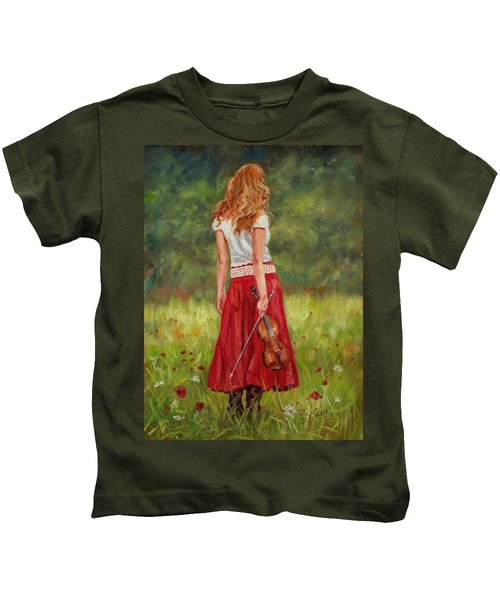 The Violinist Kids T-Shirt