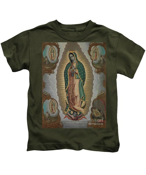 The Virgin Of Guadalupe With The Four Apparitions, 1772 Kids T-Shirt