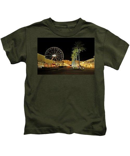The Wharf At Night  Kids T-Shirt