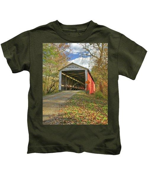 The Wilkins Mill Covered Bridge Kids T-Shirt