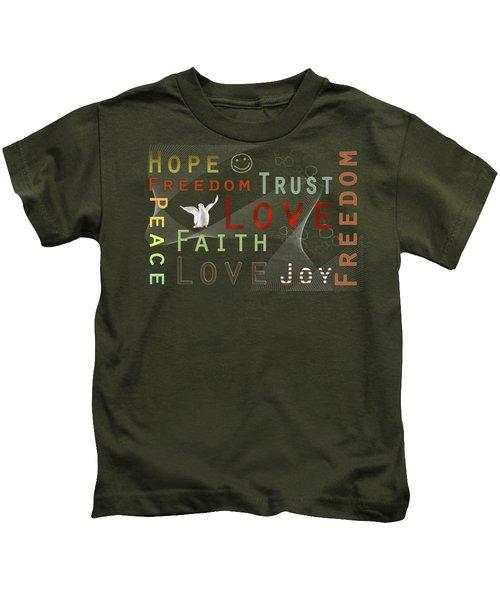 Think Positive Kids T-Shirt by Jutta Maria Pusl