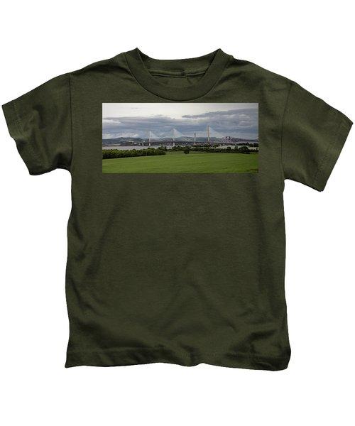 Three Bridges Over The Forth Kids T-Shirt