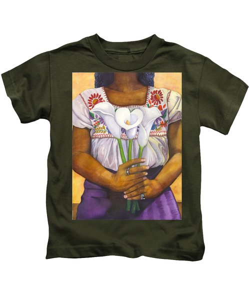 Three Calla Lilies Kids T-Shirt