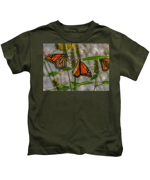 Three Monarch Butterfly Kids T-Shirt