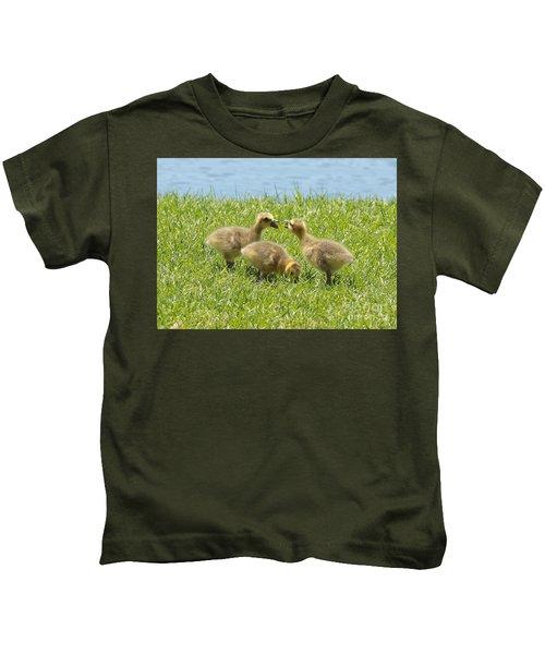 Three's A Crowd Kids T-Shirt