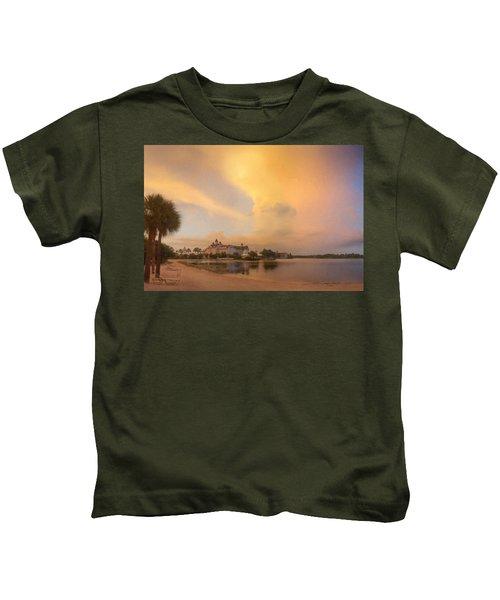 Thunderstorm Over Disney Grand Floridian Resort Kids T-Shirt