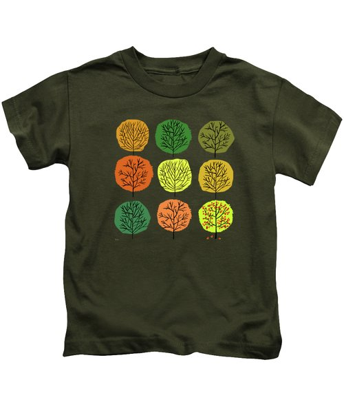 Tidy Trees All In Pretty Rows Kids T-Shirt