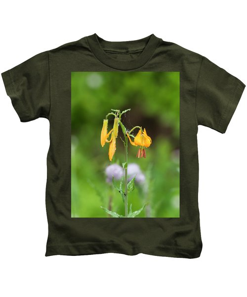 Tiger Lily In Olympic National Park Kids T-Shirt
