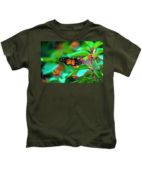 Tiger Longwing Butterfly Kids T-Shirt