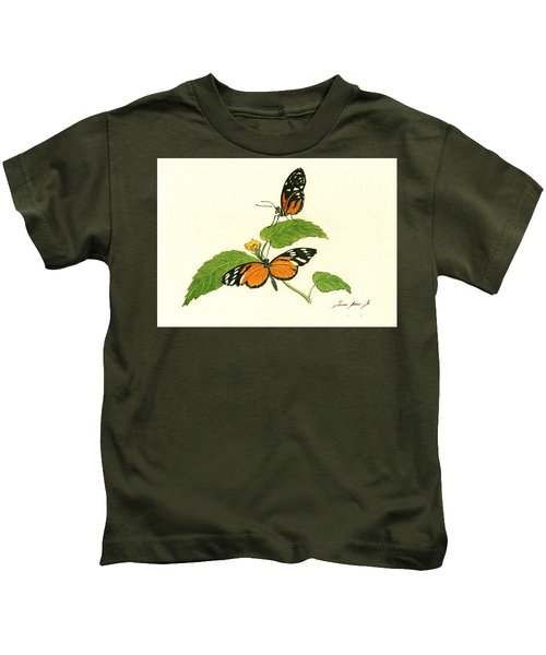 Tiger Longwing Heliconian Kids T-Shirt