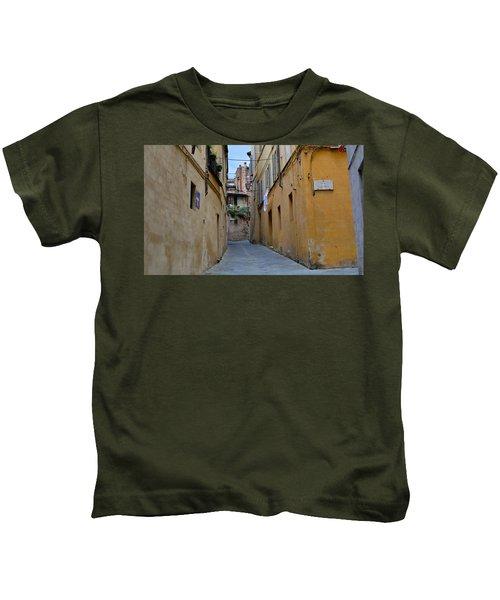 Tiny Street In Siena Kids T-Shirt