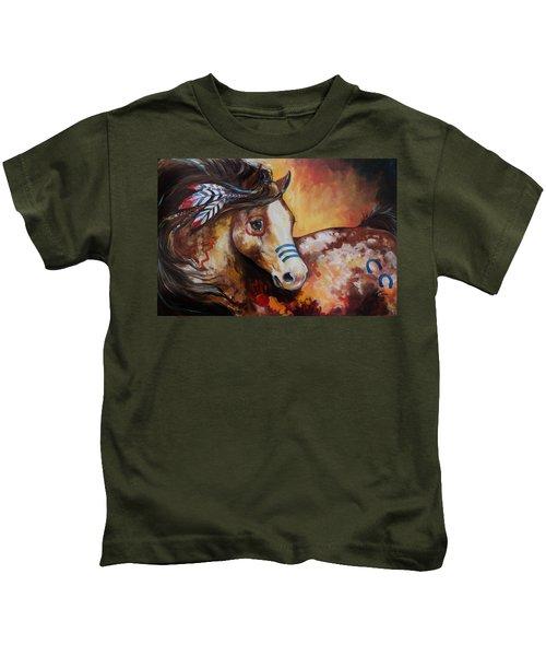 Tobiano Indian War Horse Kids T-Shirt