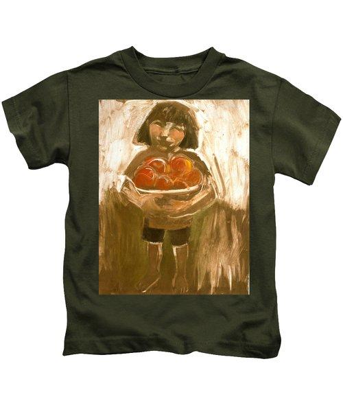 Tomato Girl Kids T-Shirt