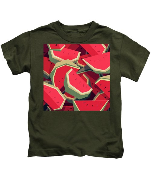 Too Many Watermelons Kids T-Shirt