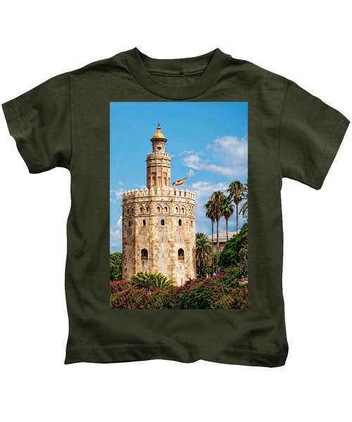 Tower Of Gold Kids T-Shirt
