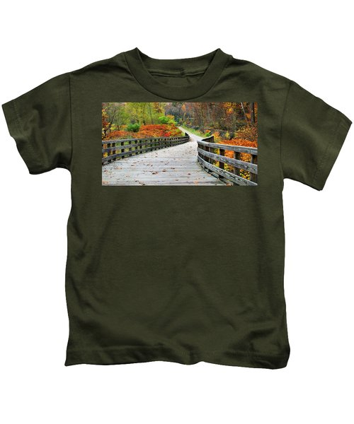 Towpath In Summit County Ohio Kids T-Shirt