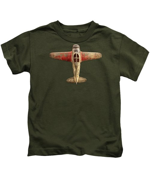 Toy Airplane Scrapper Pattern Kids T-Shirt by YoPedro