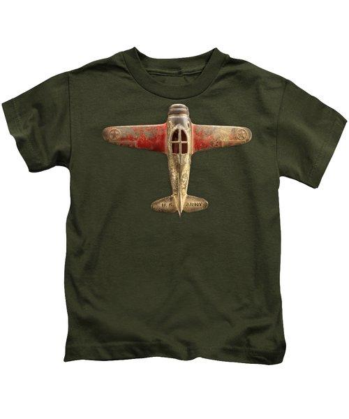 Toy Airplane Scrapper Pattern Kids T-Shirt